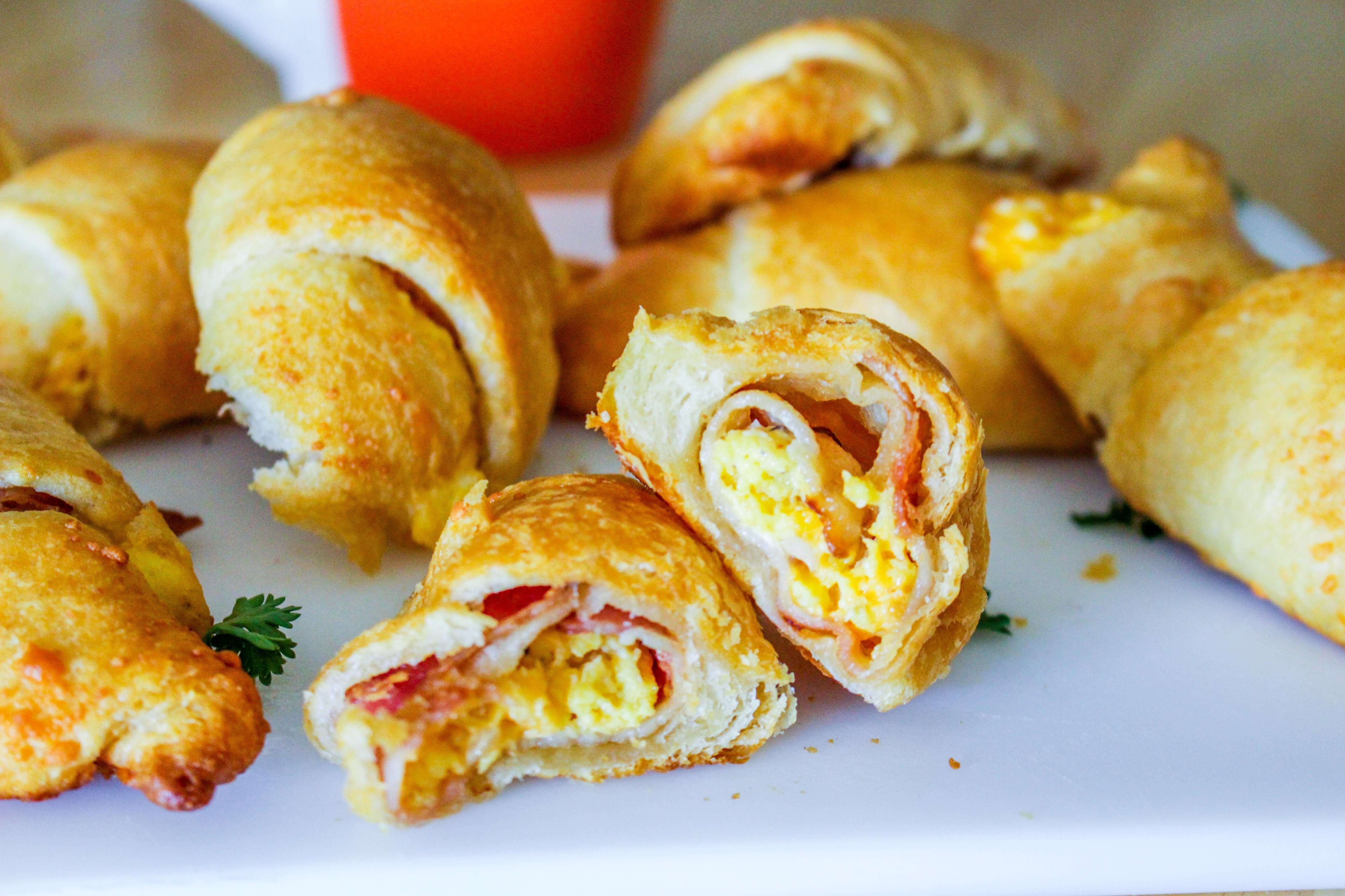 Breakfast Bacon Egg And Cheese Crescent Rolls Ally S