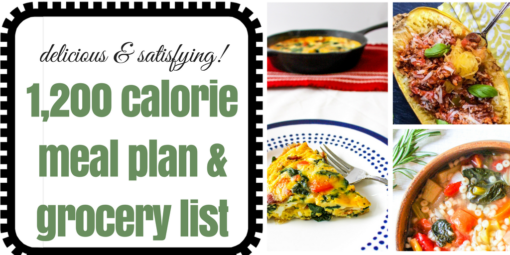 Delicious and Satisfying 1,200 Calorie Meal Plan, Recipes ...